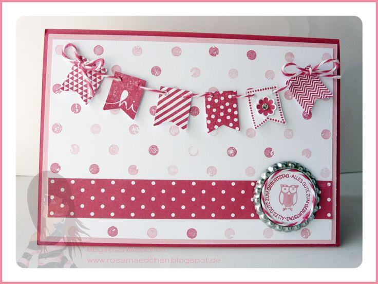 Stampin' Up! - Geburtstagskarte - Banner Blast - Ein Gruß für alle Fälle - Fähnchen - www.rosamaedchen.blogspot.de