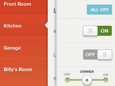 iOS layout found on Dribbble. Nice switches.