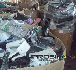 E-waste is increased rapidly due to the development of science and life. How to handle these E-scraps becomes a world environment topic. What a typical E-waste recycling line includes? PROSINO size reduction shredders and granulators can help.