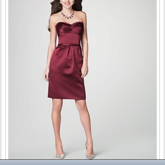 Dark red wine colored dress bridesmaid dresses style and for Wine colored wedding dresses