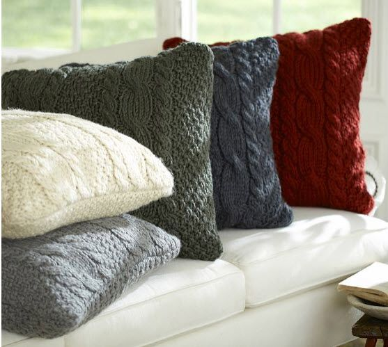 #Sweepstakes: Win ski-lodge worthy pillows! (http://blog.hgtv.com/design/2013/11/15/home-for-the-holidays-fireplace-recap-and-giveaway/?soc=pinterest)Hands Knits Cable, Pillows Covers, Knits Pillows, Living Room, Throw Pillows, Knits Sweaters, Couch Pillows, Pottery Barns, Cable Knits