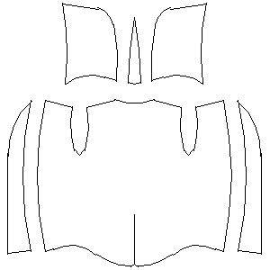 upper tunic + hood template