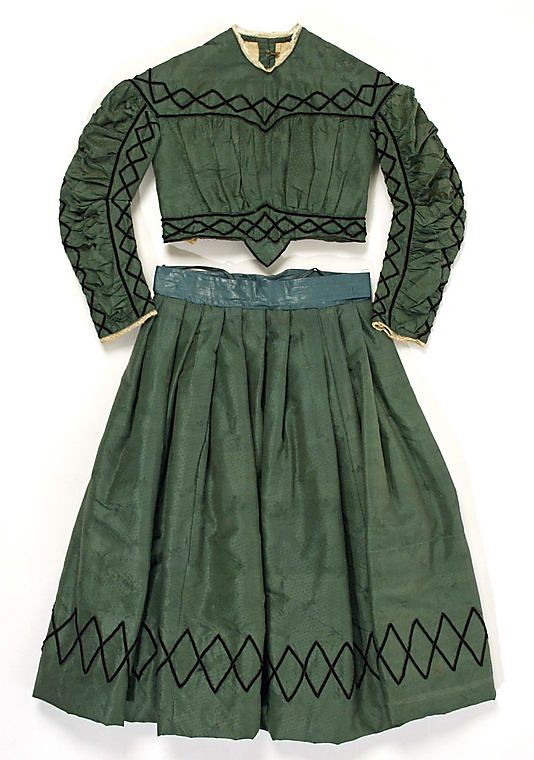 1863.. interesting trim pattern... could be used instead of greek key pattern on pink dress