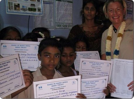 IT certificates being awarded following an educational programme