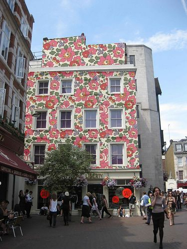 Liberty London façade in classic 'Betsy' print. I love this archival art print - I even made a little top hat in this print! :)
