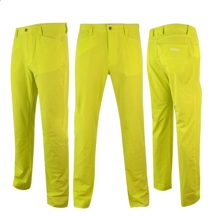 Golf clothing men golf pants quick dry colorful golf trousers top brands free shipping 4061