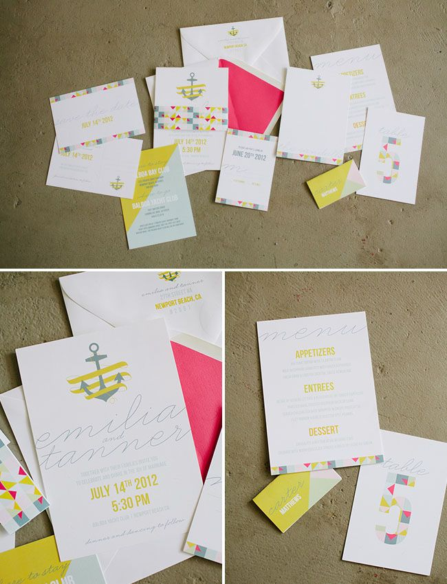 Nautical Wedding Invitation Suite. Wedding Invitations From Beloved Indeed  Paperie