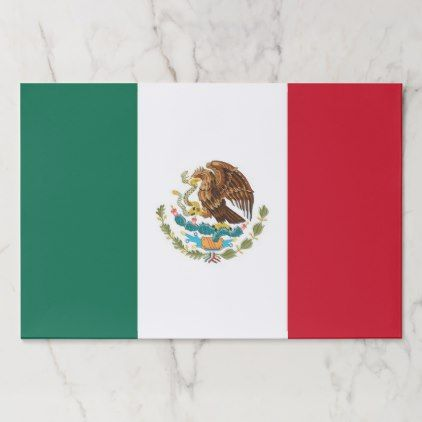 Tearaway paper pad with Flag of Mexico - paper gifts presents gift idea customize