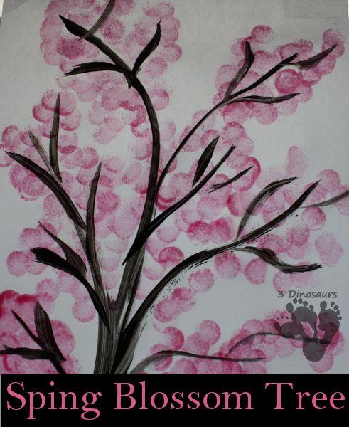 Spring Blossom Tree Painting - 3Dinosaurs.com
