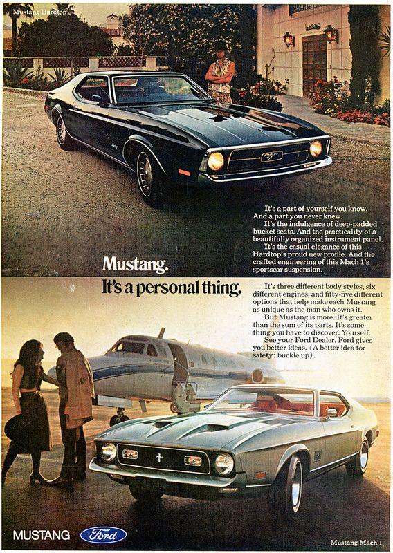 1971 Ford Mustang Mach 1 Advertising Playboy June 1971