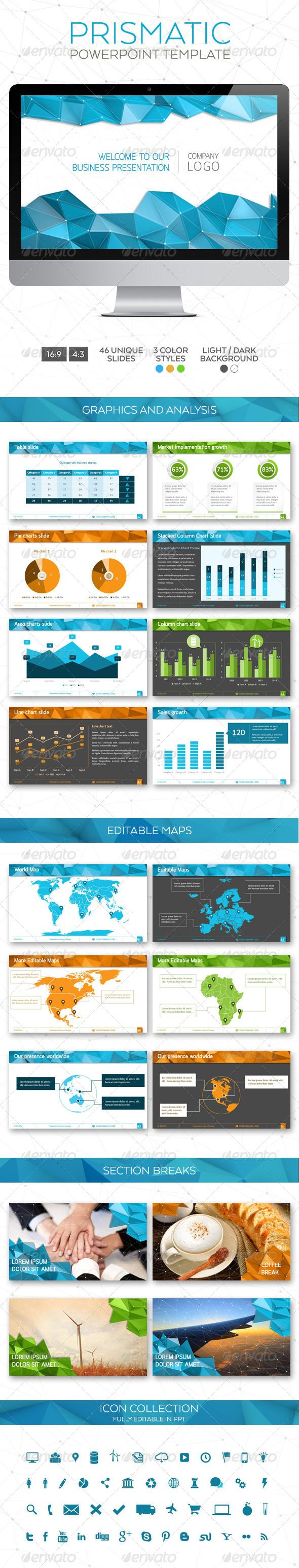 Prismatic Powerpoint Template (Powerpoint Templates) #Powerpoint #Powerpoint_Template #Presentation