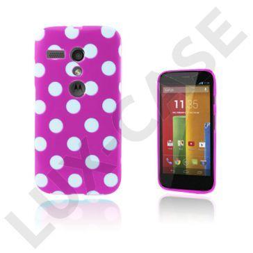 Polka Dots (Paars) Motorola Moto G Hoesje