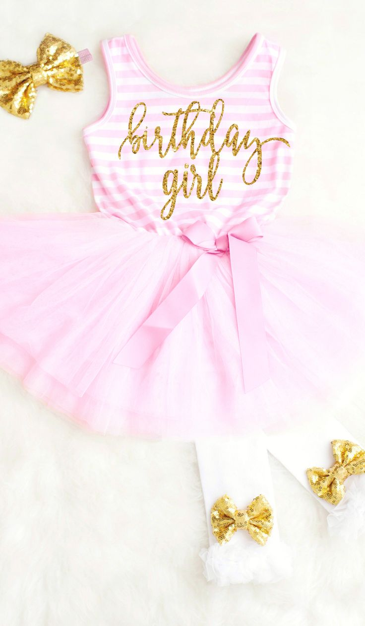 Birthday Girl Pink Tutu Dress for any age. Adorable First Birthday Outfits for Girls. We love the pink and gold birthday theme! #1stbirthdayoutfits #birthdaygirl #birthdaydress #girlsbirthdayoutfit #toddlerbirthdayoutfit