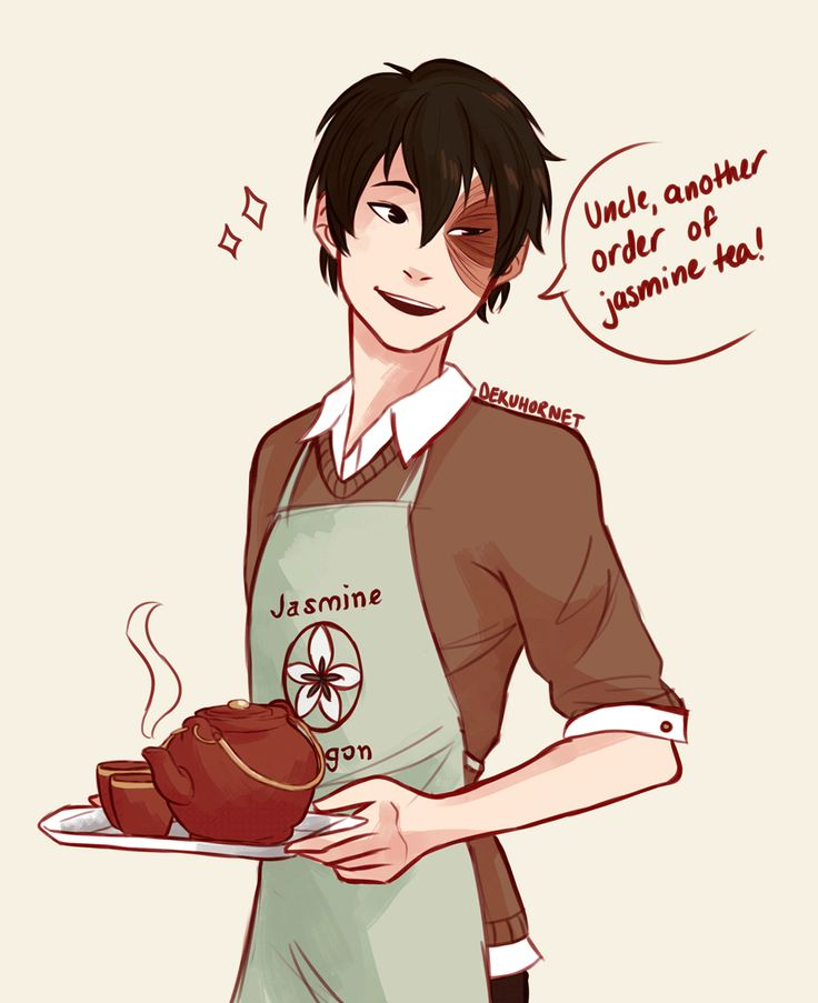 (gif) Modern Tea Shop Waiter Zuko ||| Avatar: The Last Airbender Fan Art by dekuhornet on Tumblr