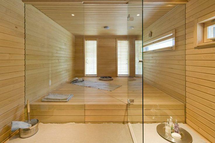 Sauna, intérieur maison madrier