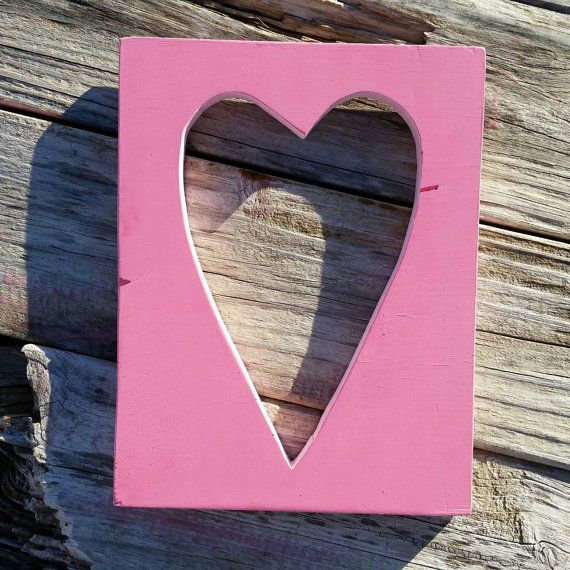 Cut out Heart sign by TheWoodenTriangle. Available on etsy for $11.  Check out this item in my Etsy shop https://www.etsy.com/listing/217439769/wood-cut-out-heart-sign-custom-colors