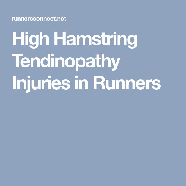 High Hamstring Tendinopathy Injuries in Runners