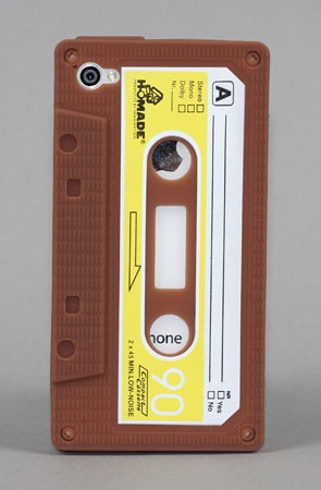 Cassette Case for Iphone  by Yamamoto Industries: Iphone Cases, Cassette Tape, Iphone 4 4S, 4 4S Cassette, Brown 12 50