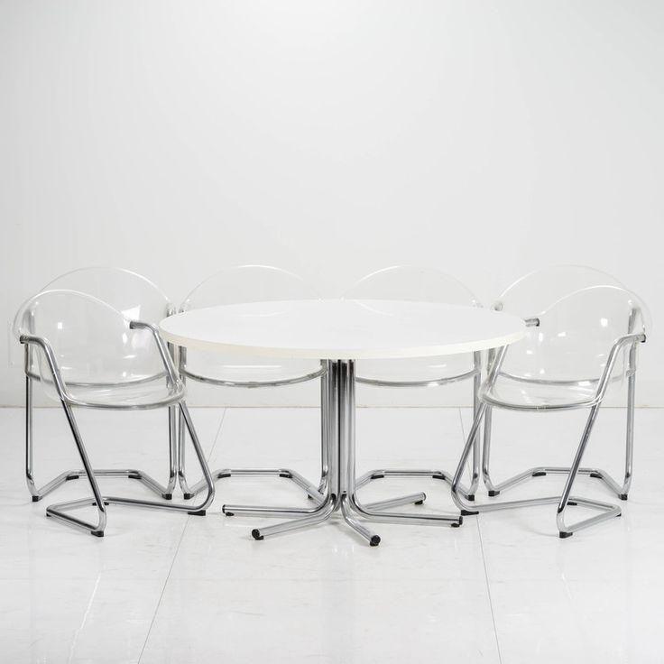 YRJÖ KUKKAPURO, pöytä ja 6 tuolia