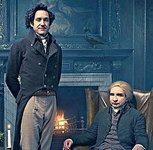 Jonathon Strange and Mr. Norrell from the 2015 TV mini series based on the book - loved the mens costumes.