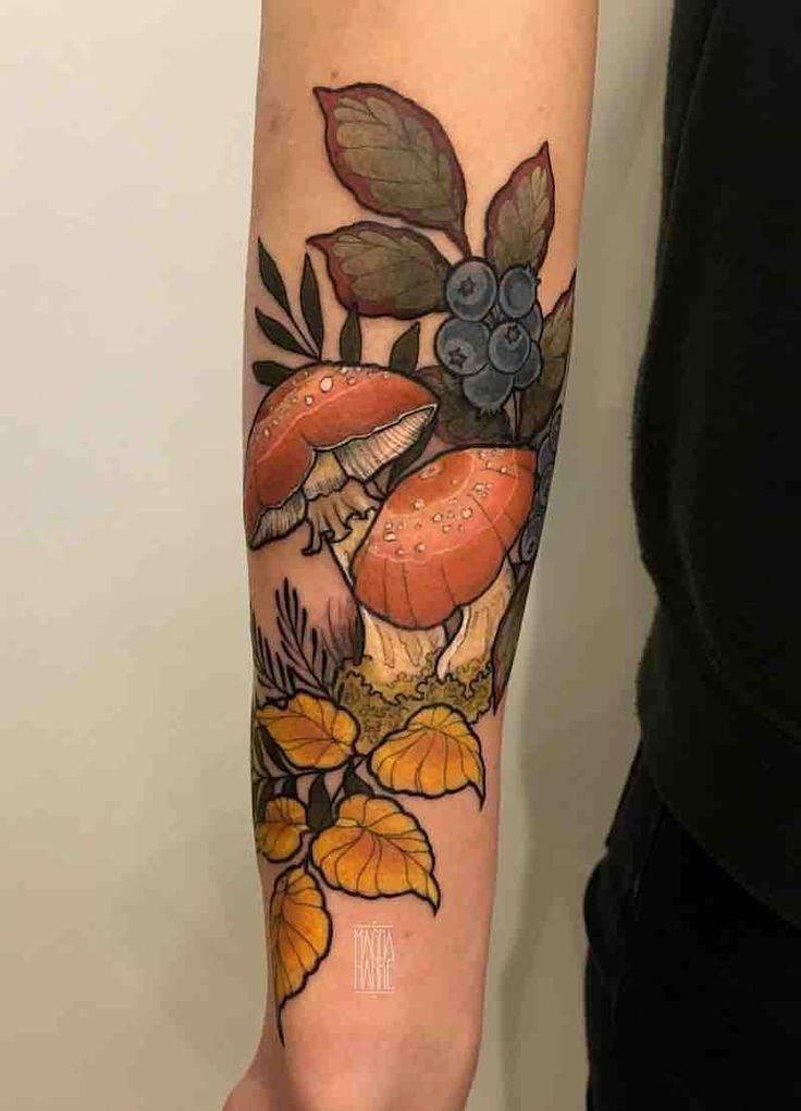 sleeve ideas tattoo #Sleevetattoos in 2020   Mushroom ...
