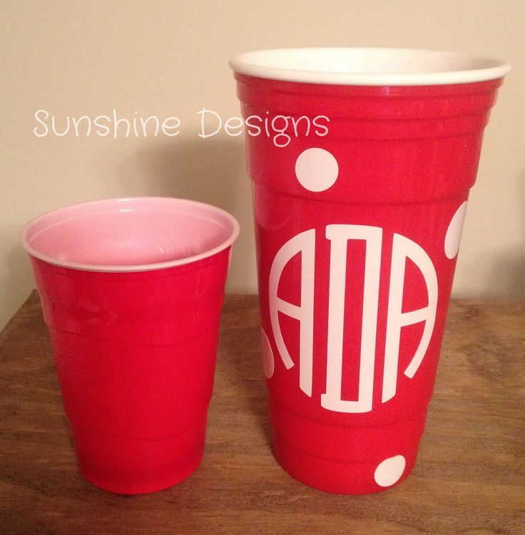 Monogrammed Red Solo Cup, Custom Red Solo Cup, Monogram Bachelorette Party Cups, Monogram Sorority Cups, Custom Party Cups by AshandMicki on Etsy https://www.etsy.com/listing/221461537/monogrammed-red-solo-cup-custom-red-solo