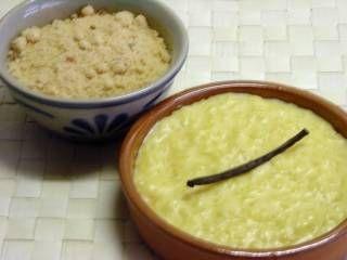 rijstpap met bruine suiker