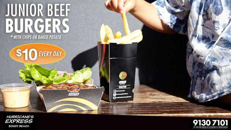 Junior beef burgers
