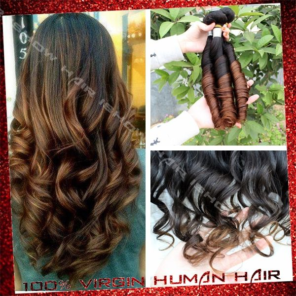 Find More Hair Weaves Information about 6a+ Ombre Virgin Brazilian Human Hair Spring Curly 3Bundles Unprocessed Raw Virgin Q Hair Products For Your Nice Hair,High Quality Hair Weaves from Xuchang Ishow Virgin Hair  Co.,Ltd on Aliexpress.com