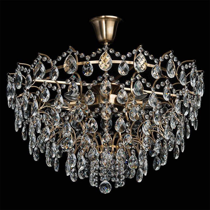 Plafonnier luminaire en cristal style baroque vintage for Luminaire baroque