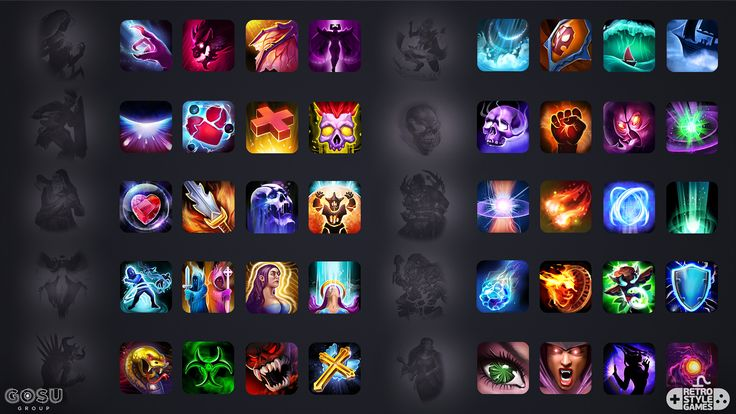 ArtStation - Heroes and Titans - Icons for Mobile RPG, RetroStyle Games