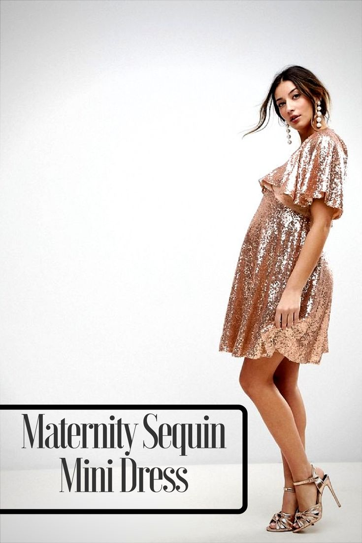 The 25 best gold maternity dresses ideas on pinterest summer asos maternity sequin fluted sleeve lace mini dress perfect for any holiday party ombrellifo Gallery
