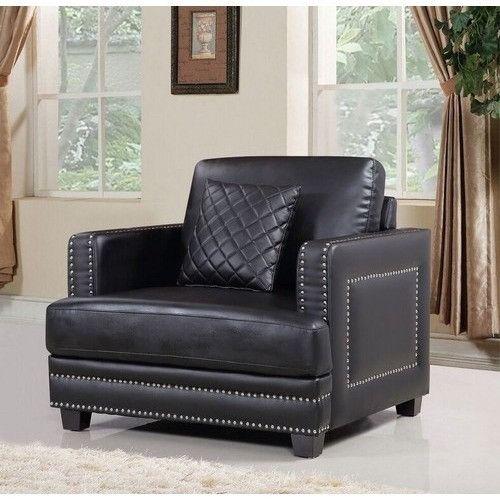 Ferrara Black Leather Chair