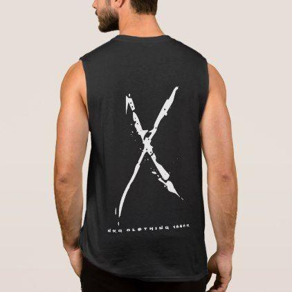 Mens Muscle Trendy Urban Black & White NXG X 1996 Sleeveless Shirt - typography gifts unique custom diy