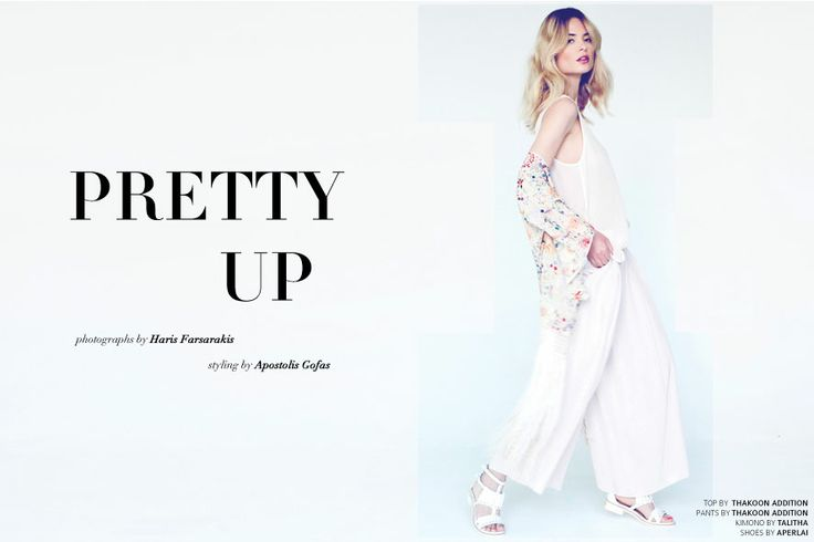 PRETTY UP! New Issue is here #pastel #summer #thakoonaddition #talitha #aperlai #pink photographs by Haris Farsarakis styling by Apostolis Gofas hair/make-up by George Marascas model: Ioanna Ntenti