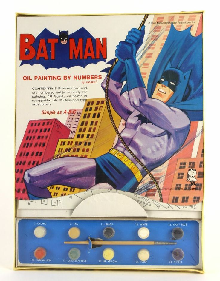 1965 1980 Batman Hasbro Paint By Number Empire Strikes Back MIP
