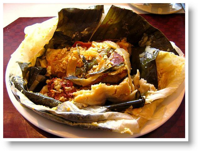 Carne En Baho Nicaraguan Cuisine Marinated Meat Yucca And Plantain Steamed Grilled In