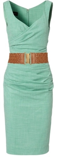 Love it!!: Summer Dresses, Mint Green, Color, Brown Belt, Mint Dresses, The Dresses, Work Dresses, Belts, Green Dresses