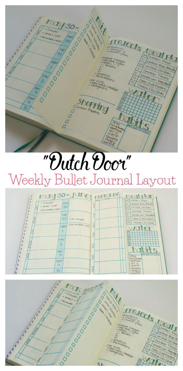 """Trying out a new weekly layout this week with a folded """"dutch door."""""""