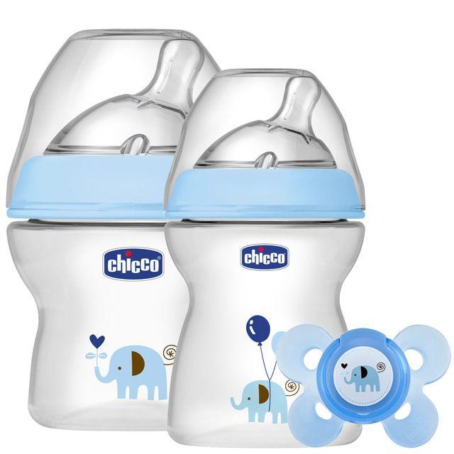 Set Lactancia Chicco 1º nzos Natural 1º Comienzos Feeling azul