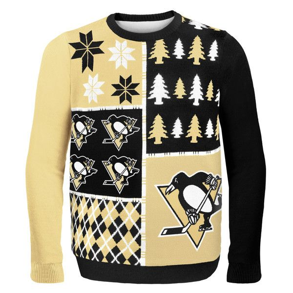 Pittsburgh Penguins NHL Ugly Sweater Busy Block available at uglyteams.com