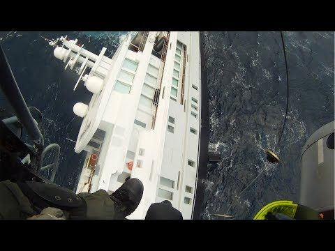GoPro: Greek Coast Guard Rescues Sinking Yacht - YouTube