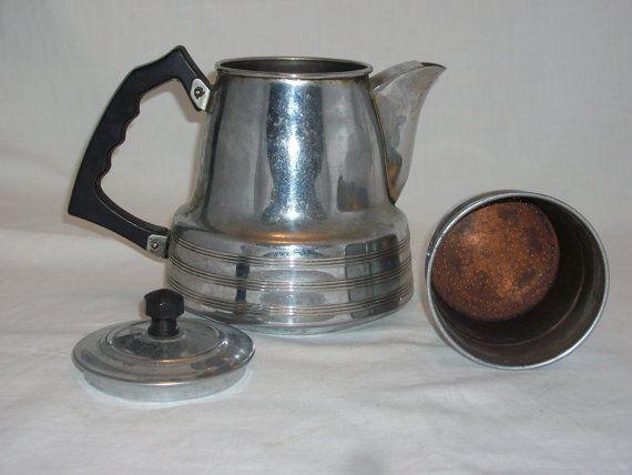 1950 s Pot à café percolateur café Français par Marchepuces