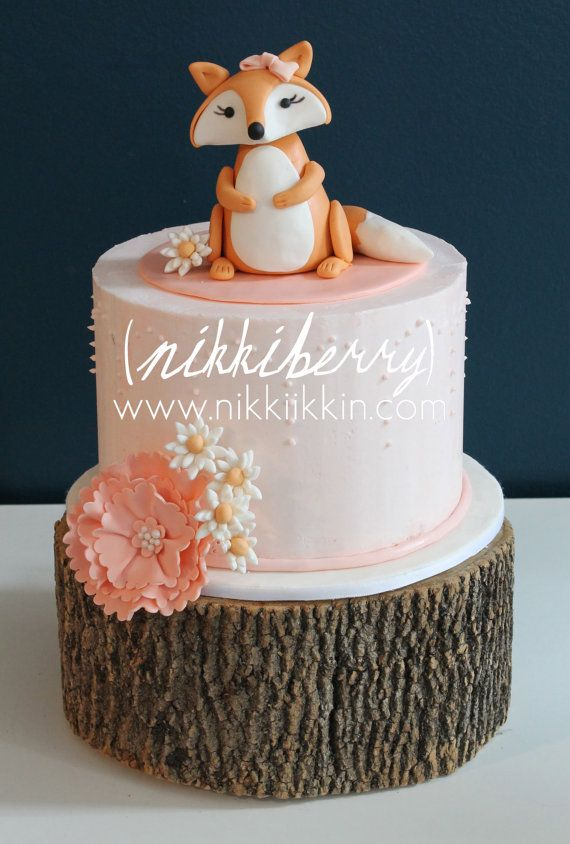 Baby Fox Cake Topper by nikkiikkin on Etsy