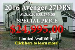 2016 Avenger 27DBS Travel Trailer