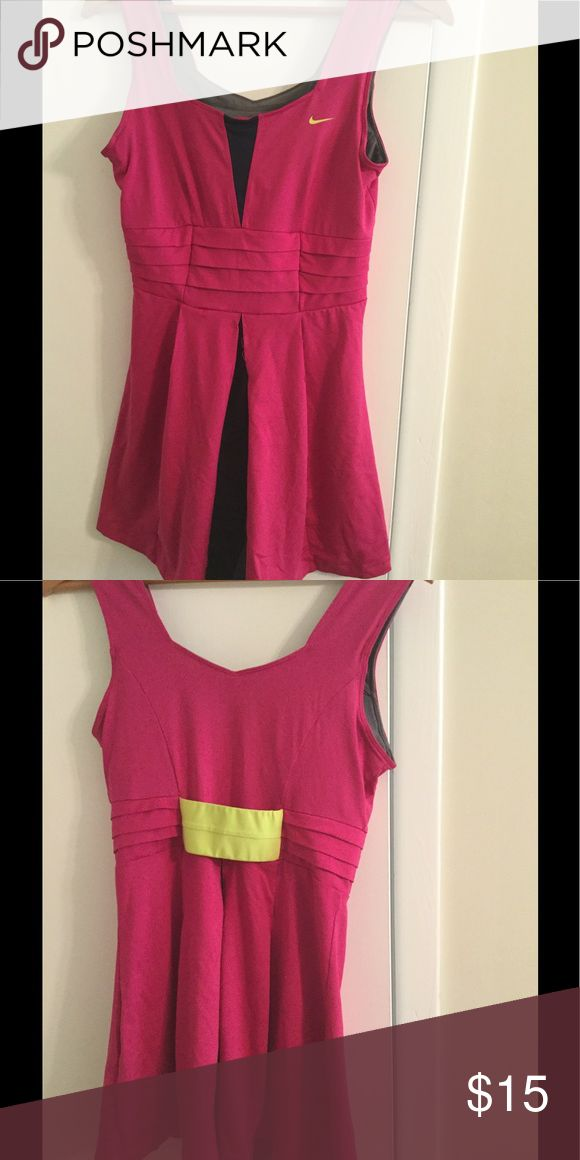 Nike tennis dress size M Nike pink dress with navy contrast.  Good condition Nike Dresses