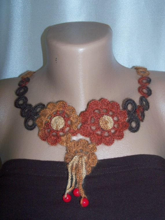 women's colourful necklace by colourfulrose on Etsy, $15.90