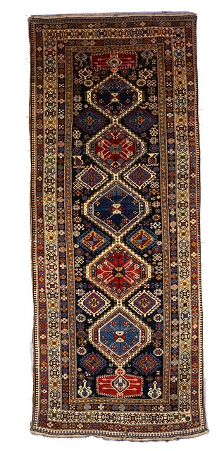 Arjiman Carpet. Shirvan group. Late 19th Century.  For more information please visit: http://karabakhfoundation.org/pages/azerbaijan-heritage-center/cultural-topics/textilesrugs/