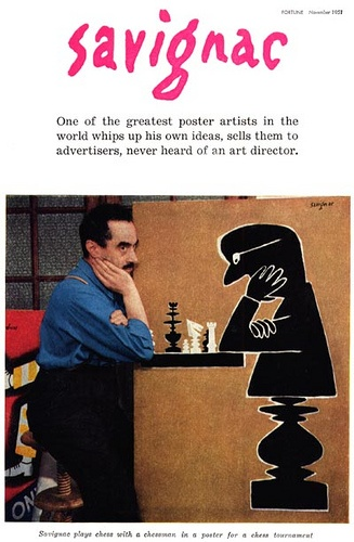 Savignac, the illustrator Fortune magazine, november 1951