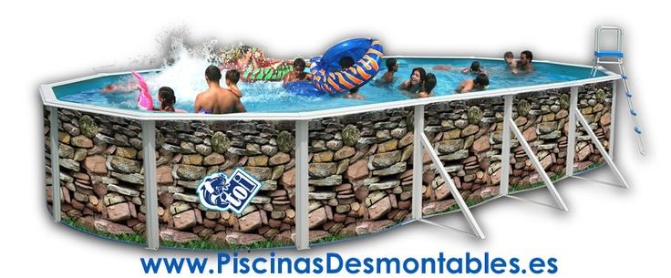 12 best piscinas imitaci n piedra images on pinterest for Piscinas desmontables en amazon